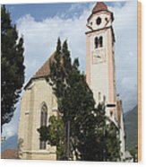Church Village Tirol Wood Print