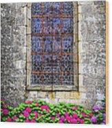 Church Window In Brittany Wood Print