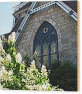 Church Window Wood Print