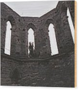 Church Windows Wood Print