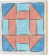 Churn Dash Block Wood Print