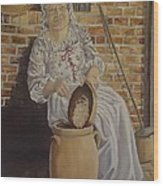 Churning Butter Wood Print