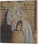 Churning Butter Wood Print