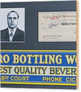 Cicero Bottling Works Chicago Brewing Wood Print