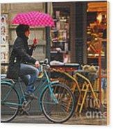 Ciclista - Milano Wood Print