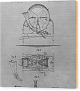 Cider Mill Patent Drawing Wood Print