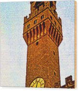Ciena Tower Wood Print