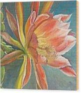 Cierge en Fleur Wood Print