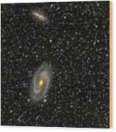 Cigar Galaxy And Bodes Galaxy Wood Print