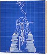 Cigar Lighter Patent 1888 - Blue Wood Print