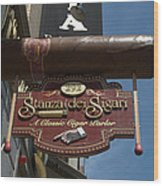Cigar Parlor Boston Wood Print