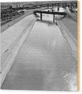Cigarette Venders Rio Grande River Separating El Paso And Juarez 1977 Wood Print