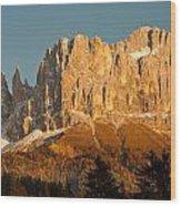 Cima Catinaccio Wood Print