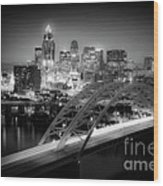 Cincinnati A New Perspective Wood Print by Kimberly Nickoson