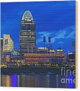 Cincinnati At Sunset Wood Print