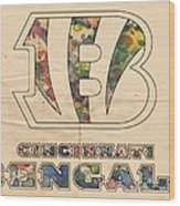 Cincinnati Bengals Logo Vintage Wood Print