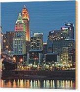 Cincinnati Blue Hour Wood Print