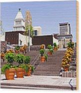Cincinnati Downtown Central Business District Wood Print by Paul Velgos