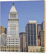 Cincinnati Downtown City Buildings Business District Wood Print