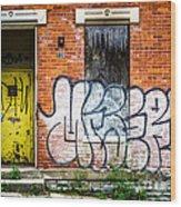 Cincinnati Glencoe Auburn Place Graffiti Picture Wood Print