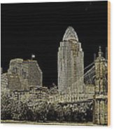 The Queen City Cincinnati Ohio Wood Print