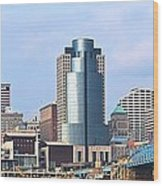 Cincinnati Panoramic Skyline Wood Print