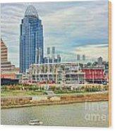Cincinnati Reds Ballpark 9870 Wood Print