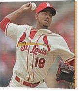 Cincinnati Reds V St. Louis Cardinals Wood Print