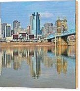 Cincinnati Reflects Wood Print