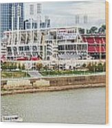 Cincinnati Riverfront 9870 Wood Print