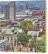 Cincinnati Rooftop 9965 Wood Print