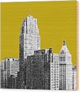 Cincinnati Skyline 2 - Gold Wood Print