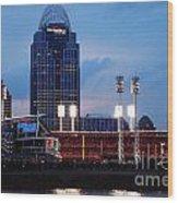 Cincinnati Skyline Wood Print by Deborah Fay
