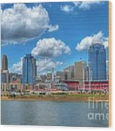 Cincinnati Skyline Wood Print