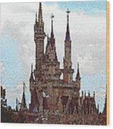 Cindies Castle Wood Print