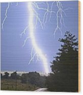 Cindy's Tower Lightning Wood Print