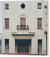 Cinema Cuba Wood Print