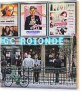 Cinema In Paris Wood Print