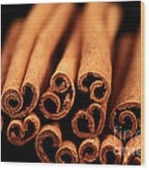 Cinnamon Sticks Wood Print