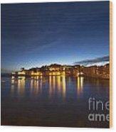 Cinque Terre At Night Wood Print