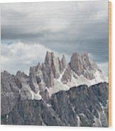 Cinque Torri Area In The Dolomites Wood Print