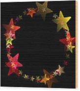 Circle Of Stars Wood Print