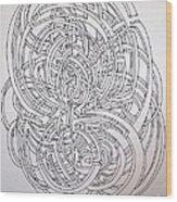 Circle On Circle Wood Print