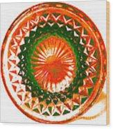 Circle Orange Wood Print