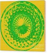 Circle Yellow Wood Print
