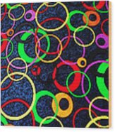 Circles 2 Wood Print
