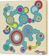 Circles 3 Wood Print