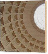 Circles And Squares Wood Print