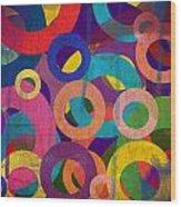 Circles Wood Print by Aya Murrells