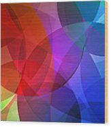 Circles In Colorful Abstract Wood Print